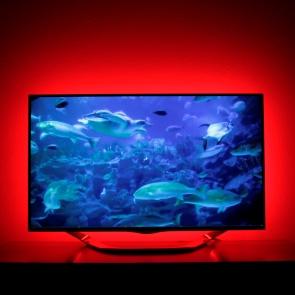 tv hintergrundbeleuchtung rgb led strips komplettset led. Black Bedroom Furniture Sets. Home Design Ideas